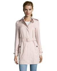 Burberry Brit Ice Pink Cotton 'Rochester' Trench Coat pink - Lyst