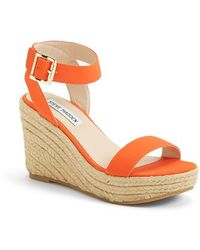 Steve Madden 'Seaside' Wedge Sandal - Lyst