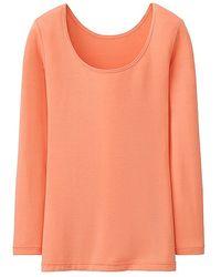 Uniqlo Women Heattech Scoop Neck Long Sleeve T-Shirt - Lyst