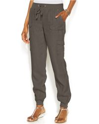 Inc International Concepts Drawstring-Waist Linen Cargo Pants - Lyst