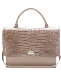Givenchy Shark Medium Embossed Leather Tote - Lyst