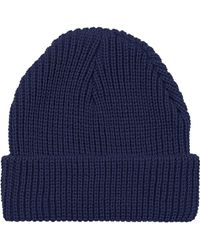 Topshop Womens Easy Knit Beanie  Navy Blue - Lyst