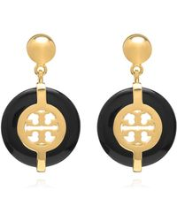 Tory Burch Deco Logo Resin Earring - Lyst