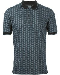 Dolce & Gabbana Owl-Print Cotton Polo Shirt - Lyst
