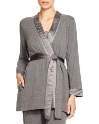 Oscar de la Renta - Cosy Brushed Jersey Wrap Robe - Lyst