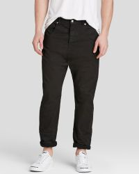 McQ by Alexander McQueen Jeans - Low Crotch Relaxed Fit In Darkest Black - Lyst