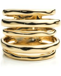 Alexis Bittar Liquid Gold Layered Ring - Lyst