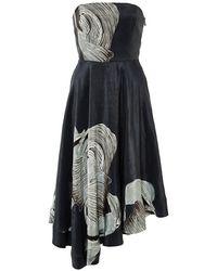 Tibi Midori Silk Linen Asymmetrical Dress - Lyst