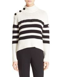 Kate Spade | Stripe Mock Neck Sweater | Lyst