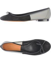 Celine Gray Ballet Flats - Lyst