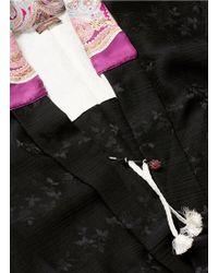Ibrigu - One Of A Kind Scarf Neck Silk Crepon Kimono - Lyst