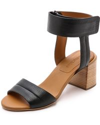 See By Chloé Ankle Strap Sandals - Nero - Lyst