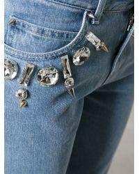 Emanuel Ungaro - Crystal Embellished Jeans - Lyst