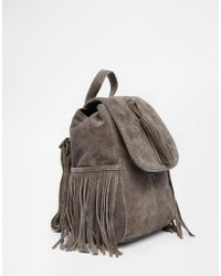 ASOS - Mini Suede Backpack With Tassels - Lyst