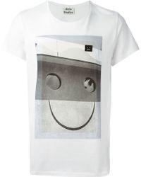 Acne Studios Standard Graphic-Print T-Shirt - Lyst