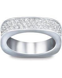 Swarovski Vio Crystal And Silver-Tone Ring Size 8 - Lyst