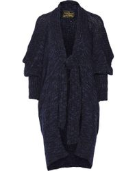 Vivienne Westwood Anglomania Atmos Chunky Knit Wool Blend Cardigan - Lyst