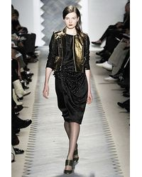 3.1 Phillip Lim Gold Leather Runway Jacket - Lyst