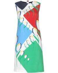 Thom Browne Printed Silk Dress - Lyst
