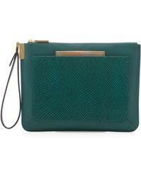 Time's Arrow - Ishi Snakeprint Leather Wristlet Emerald - Lyst