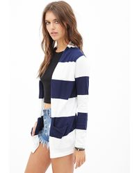 Forever 21 Rugby Striped Cardigan - Lyst