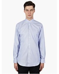 Comme Des Garçons Mens Micro-check Cotton Inverted Collar Shirt - Lyst