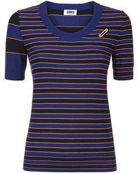 Sonia by Sonia Rykiel Striped Knitted Safety Pin Sweater - Lyst