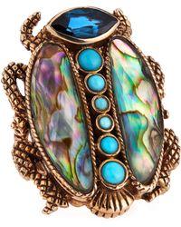 Stephen Dweck - Large Multi-Stone Scarab Ring - Lyst