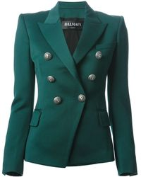 Balmain Fitted Jacket - Lyst