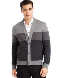 Kenneth Cole Reaction Colorblocked Cardigan - Lyst