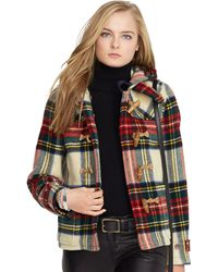 Polo Ralph Lauren Plaid Wool Duffel Coat - Lyst