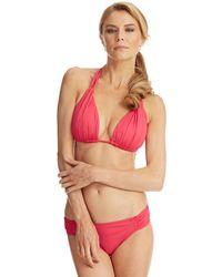 La Blanca Core Solid Halter Bikini Swim Top - Lyst