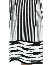 Thakoon Striped Ottoman Skirt - Blackwhite - Lyst