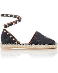 Valentino | Rockstud Ankle-strap Espadrilles | Lyst