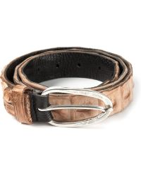 Scunzani Ivo - Textured Belt - Lyst