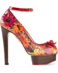 Charlotte Olympia 'Floral' Pumps - Lyst