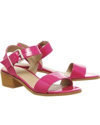 Office Williamsburg Block Heel Sandal pink - Lyst