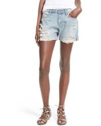 Articles of Society - 'jimmy' Distressed Denim Shorts - Lyst