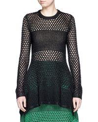 Proenza Schouler | Variegated Stripe Knit Sweater | Lyst