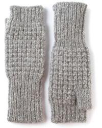 Duffy Knitted Fingerless Mittens - Lyst