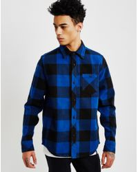 The Hundreds | Highland Long Sleeve Flannel Shirt Blue | Lyst