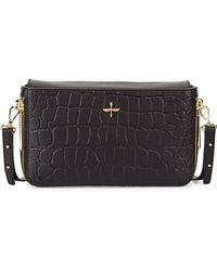 Pour La Victoire Yves Croc-Embossed Leather Zip Clutch Bag - Lyst