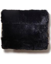 3.1 Phillip Lim Lynus Fur Ipad Case Black black - Lyst