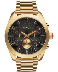 Nixon 'The Bullet Chrono' Watch gold - Lyst