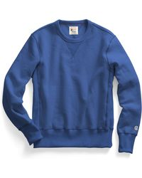 Todd Snyder X Champion | Reverse Weave Sweatshirt In Washed Royal Blue | Lyst