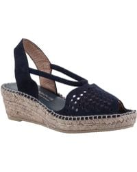 Andre Assous Connie Wedge Espadrille Navy Suede blue - Lyst