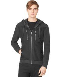 Calvin Klein Gray Pique Jacket - Lyst