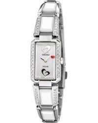 Seiko Women'S Solar White Ceramic And Stainless Steel Bracelet 16Mm Sup185 - American Heart Association - Lyst