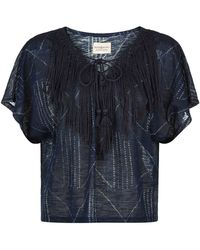 Denim & Supply Ralph Lauren - Fringed Laced Front Top - Lyst