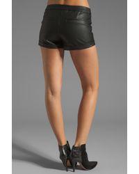Bardot - Rider Vegan Leather Shorts - Lyst